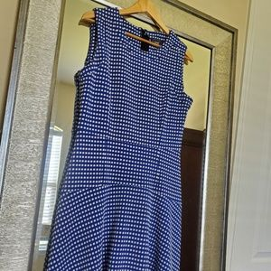 Blue and white Tommy Hilfiger Flare Dress 12